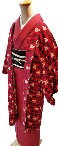 (レディース)むら糸無地染の木綿着物