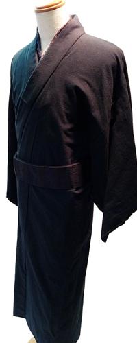 (メンズ)むら糸無地染の木綿着物