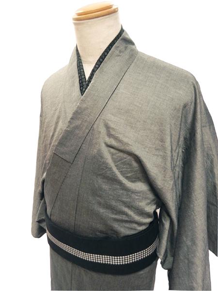 平織薄地木綿着物「aigi」