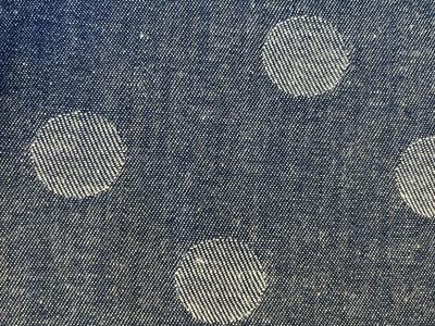 ジャガードコットンキモノ「Coin Dot」 No.19Blue