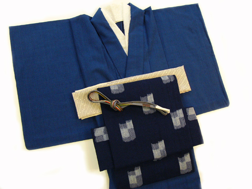 藍染木綿の着物(NO.15)