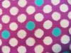 ビー玉柄木綿(No416/紫)