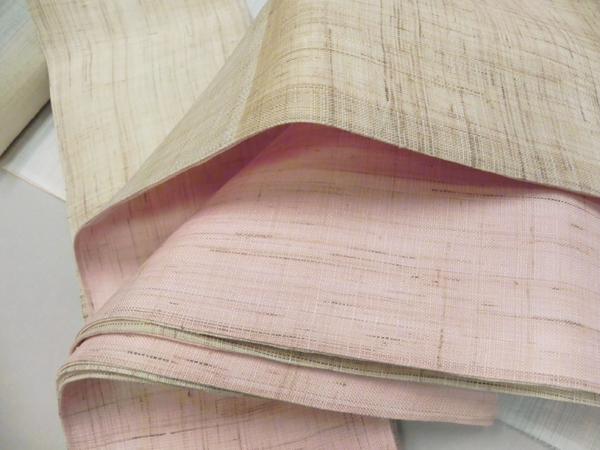 麻半巾帯「無地織り」