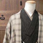 メンズ木綿羽織「格子」