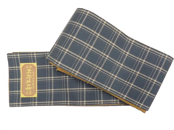 片貝木綿「型染四寸半巾帯」