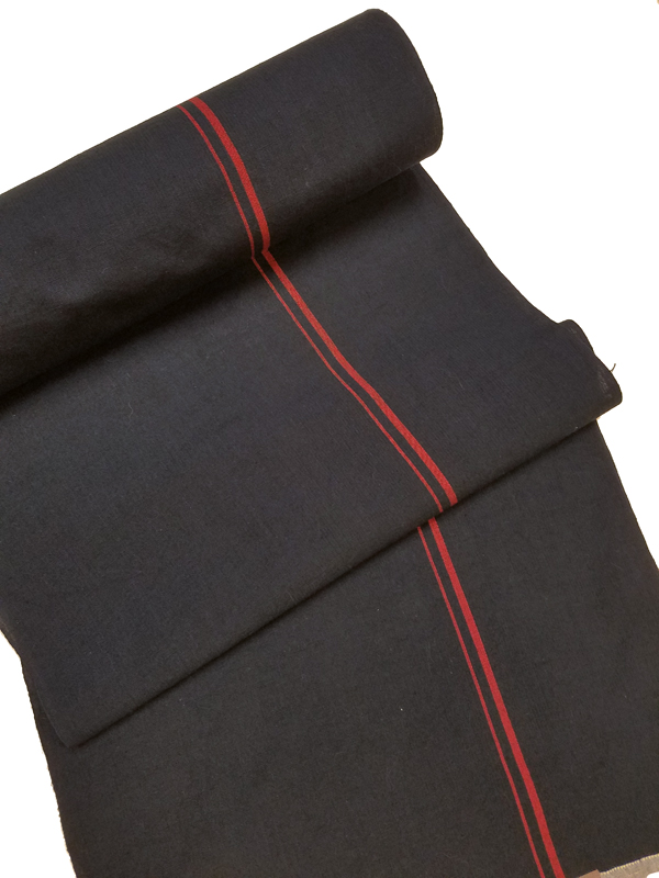 片貝木綿「一本縞/濃紺・赤」