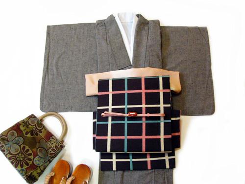 古布紬木綿のオーダー着物