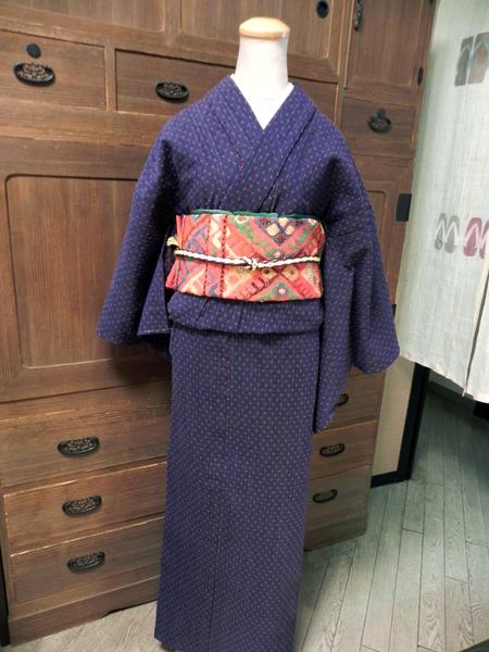 十字織の木綿着物