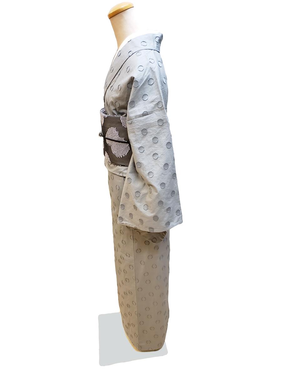 コットンジャガード織着物「円相」