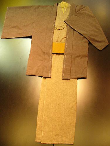 古布紬木綿オーダー羽織[No2006焦げ茶]