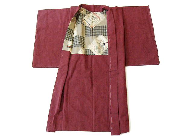 古布紬木綿羽織(袷)仕立て