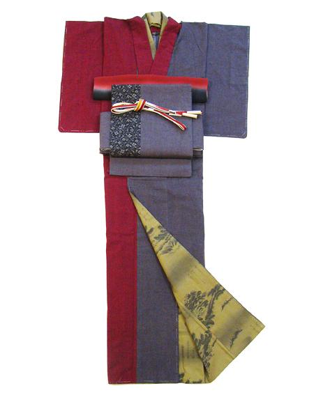 古布紬木綿着物「2色合わ/袷仕立て」