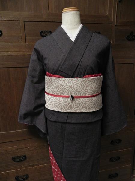 古布紬木綿着物(袷仕立て)