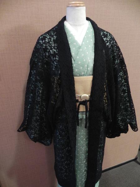 撫松庵レース羽織「黒」