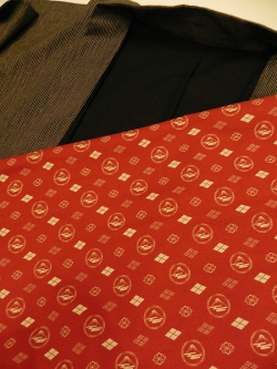 富士柄(小紋柄)紅色
