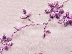 木綿着物「花刺繍」color.140PK