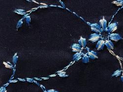 木綿着物「花刺繍」color.19BL