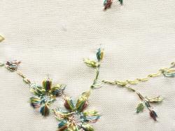 木綿着物「花刺繍」color.21GR