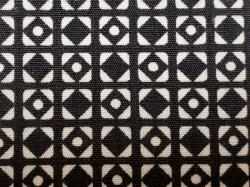 木綿着物(釘抜紋)Color.B「黒」