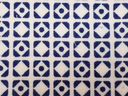 木綿着物(釘抜紋)Color.F「白地に青藍 せいらん」