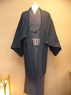 古布紬木綿アンサンブル(着物と羽織コーディネート)