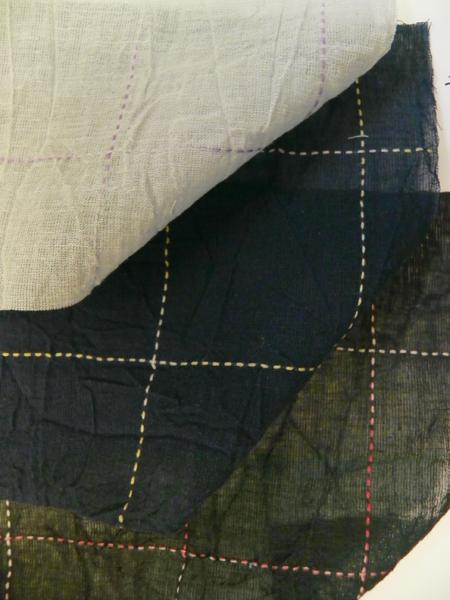 綿麻着物「碁盤格子」color.3パターン