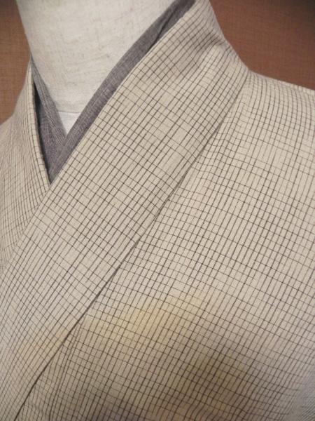 絣格子木綿着物[M111002/全3色]