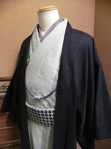 春夏木綿「綿麻着物と木綿羽織」
