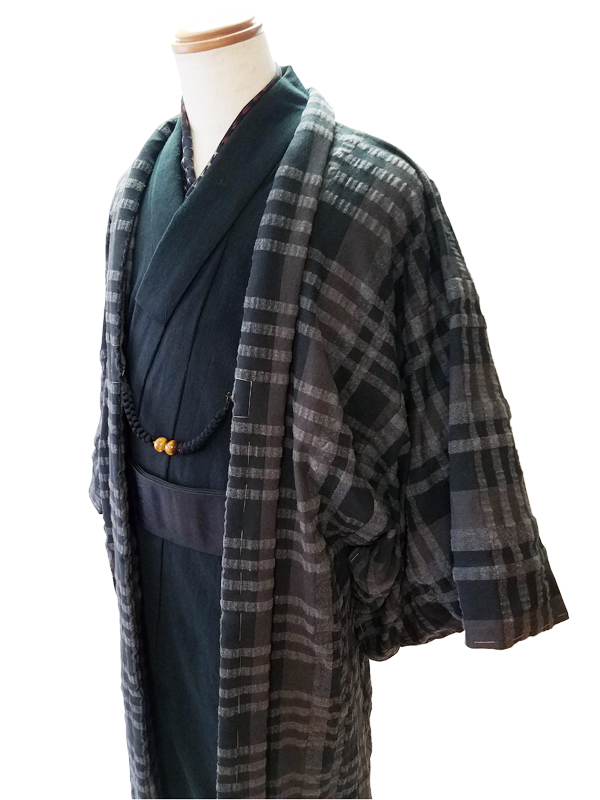「HAORI」COTTON TWEED CHECK