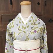 春夏木綿きもの「烏瓜/Karasuuri」