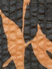 春夏木綿薄羽織「leaf」colorD Blue
