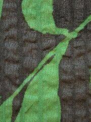 春夏木綿薄羽織「leaf」colorC Green