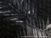Cotton Haori[Fern」color.D(Grayblack)