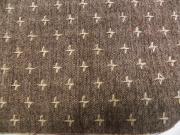 十字織の木綿着物「枯茶/No.10」