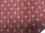 十字織の木綿着物「赤紅/No.20」