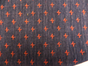 十字織の木綿着物「濃藍/No.50」