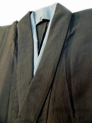 あずみ野木綿メンズ着物「墨色」NO.9636