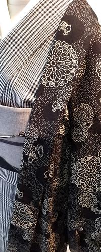 [Takumi Retro]木綿羽織 (菊とうりんぼ)