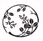 手捺染木綿「縁起紋づくし柄パターン/萩」
