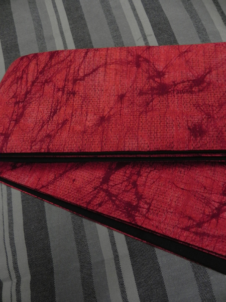 三勝染木綿角帯「ろうけつ染/紅赤」