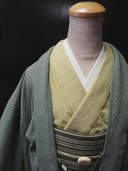 先染織木綿羽織「dotspark」