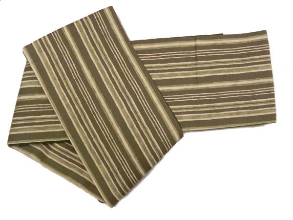 木綿型染半巾帯「縞」