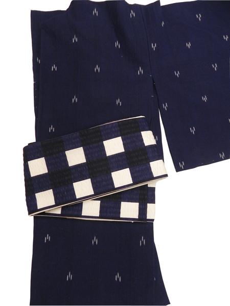 三勝染半巾帯「弁慶格子(紺)」