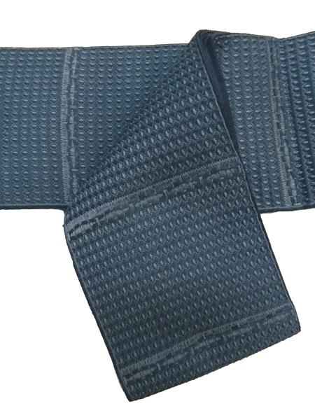 綿絹角帯「藍色」