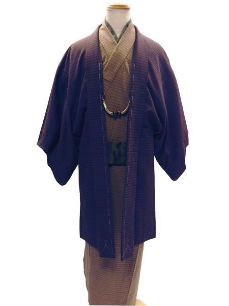 先染織木綿着物[UROKO]
