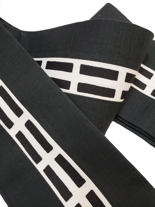 木綿角帯「一本独鈷/黒」