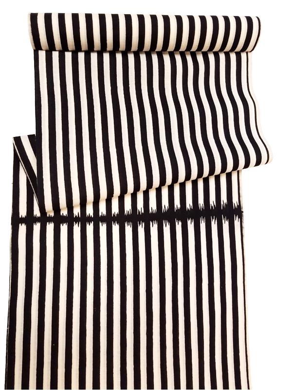 三勝本染ゆかた「縞/Black&White」
