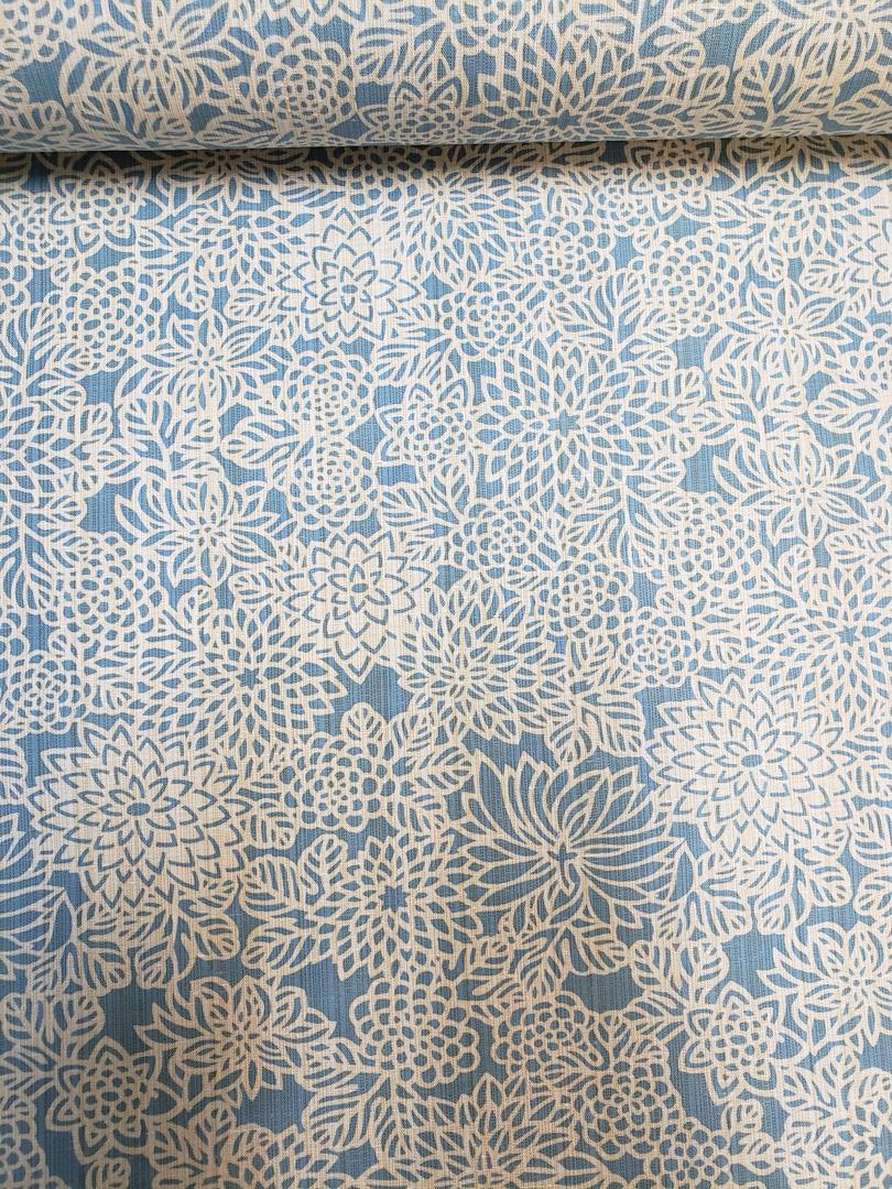 三勝染ゆかた「薄藍/菊花」