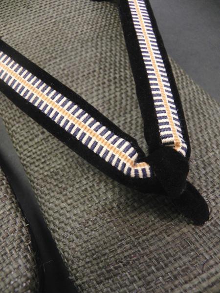 手織り麻「メンズ雪駄/color:栗皮茶」