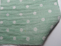 [Gauze]春夏綿紗の着物「水玉もよう/パステルグリーン」
